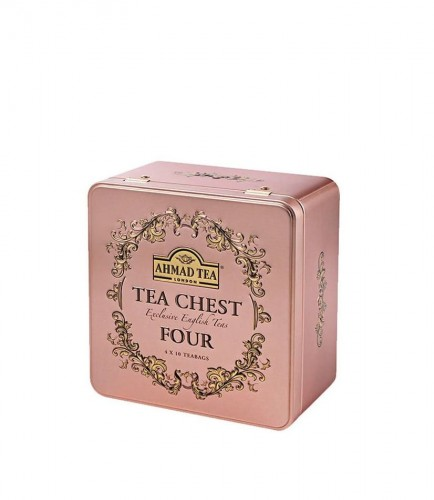Ahmad Tea Chest Four Caddy 40 kopert puszka