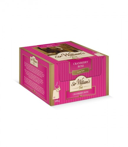 Sir Williams Tea Cranberry Rose Herbata 50 saszetek