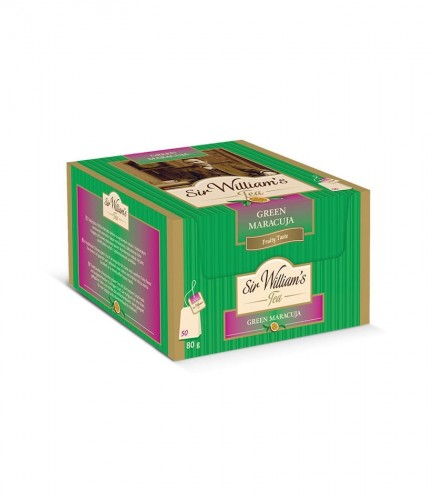 Sir Williams Tea Green Maracuja Herbata 50 saszetek