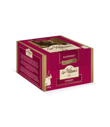 Sir Williams Tea Raspberry Herbata 50 saszetek